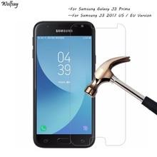 2 protectores de pantalla para cristal templado Samsung Galaxy J3 2017 para Samsung Galaxy J3 Prime Glass para Samsung J3 2017 Wolfsay