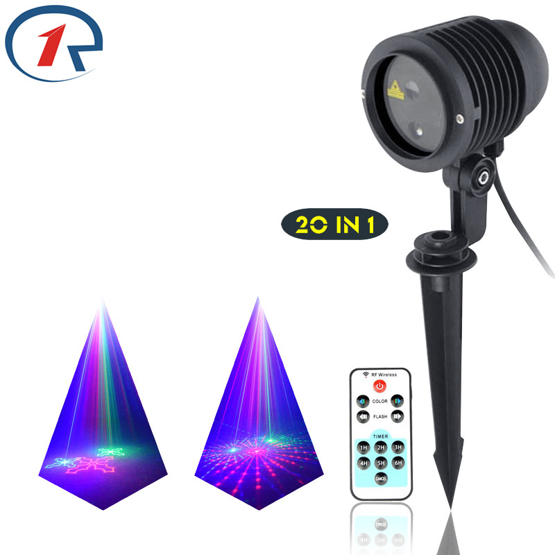 ZjRight IR Remote 20 pattern Red Green Blue laser light waterproof outdoor projection laser stage light dj lights disco lighting zjright laser light ir remote red green christmas lights outdoor waterproof garden lamp park party bar dj disco halloween lights