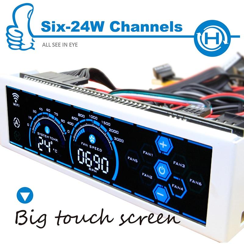 все цены на ALSEYE a-100H (WB) fan controller computer WIFI fan speed controller LCD touch screen CPU cooler / water cooling fan control онлайн