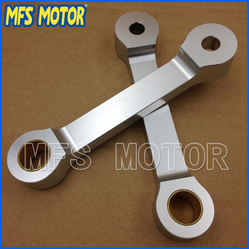 Motorcycle Lowering Link For Kawasaki EX250 EX 250 1986-2007 bike Silver Billet meziere wp101b sbc billet elec w p