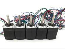 5pcs 20BYG 2phase Hybrid Stepper Motor 4-leads 1.4N.cm 0.6A L28mm Nema8 Stepper Motor for 3D Printer DIY CNC