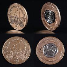 Трехмерная роза любовь Памятная коллекция монет подарок сувенир художественный металлический Antiqu подарок для влюбленных