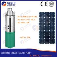 (Модель 4DQGT2/55 36/360) JINTOP Солнечная щетка насос экономичный DC 36 V ферма ранчо на солнечных батареях погружной водяной насос