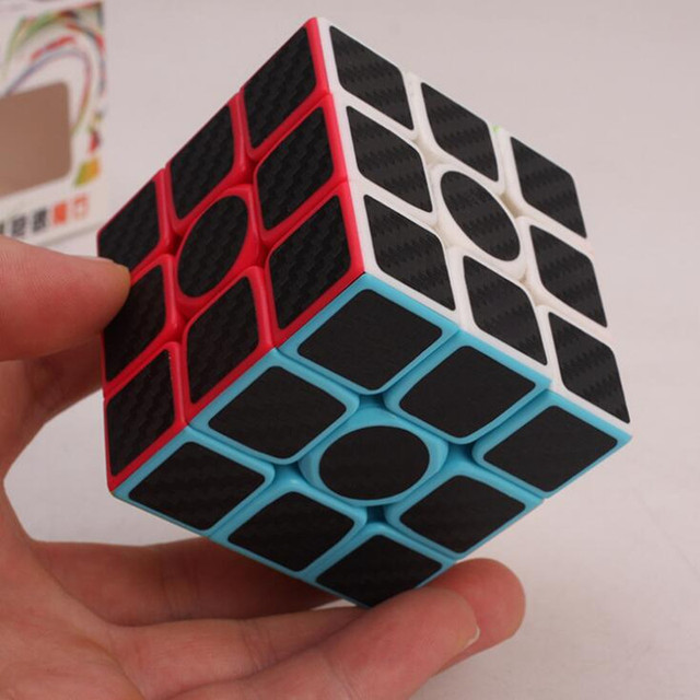 Newest Carbon Fiber Membran 3x3x3 Speed ABS Sticker Block Magic Cube Toy Package Learning&Educational Puzzle Cubo Magico Toys