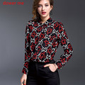 Dower Me Runway Shirt High Quality Women Long Sleeve 100% Silk Top