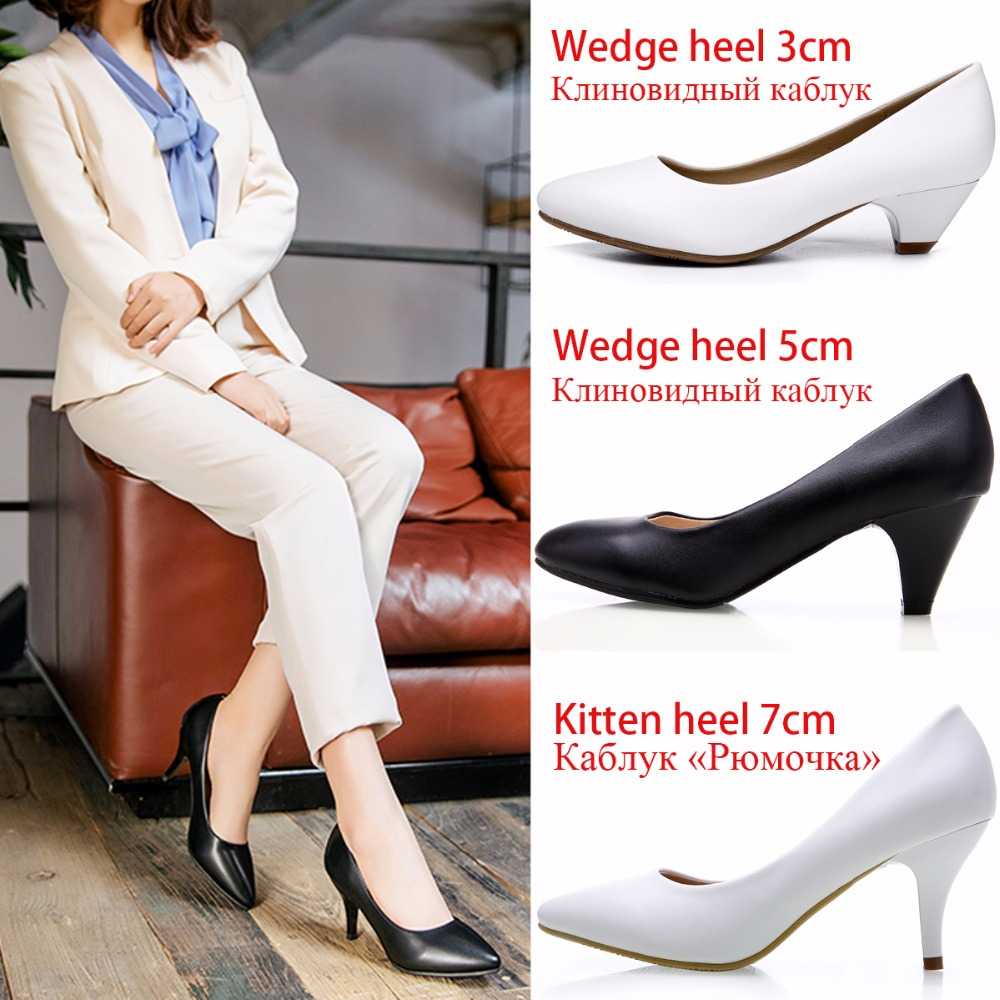 Women Pumps Thin Medium High Heels Classic Casual Women Dress Shoes Ladies Office Shoes Pointed Toe Kitten Heels Pumps