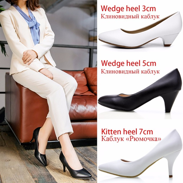 a0cd1335f388 Women Pumps Thin Medium High Heels Classic Casual Women Dress Shoes Ladies  Office Shoes Pointed Toe Kitten Heels Pumps