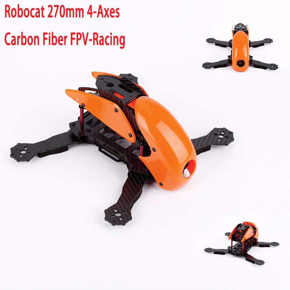 Robocat 270mm 4-Axes Carbon Fiber FPV-Racing Mini Quadcopter Frame Kit Orange Blue Green Yellow Pink
