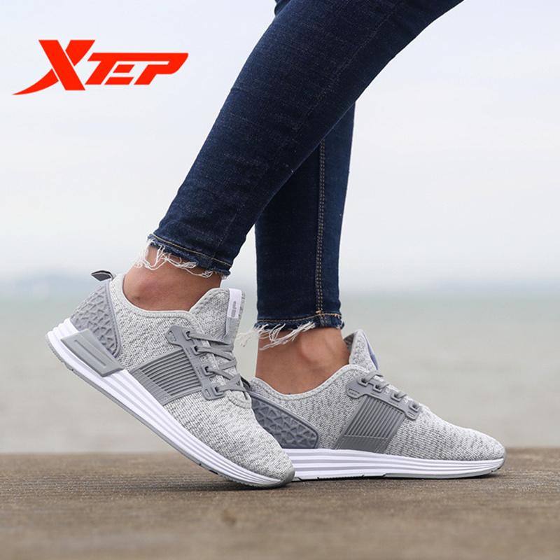 XTEP Brand women summer Retro Harajuku flyknit women's Skateboarding Sports Sneakers Shoes free shipping 983218392659