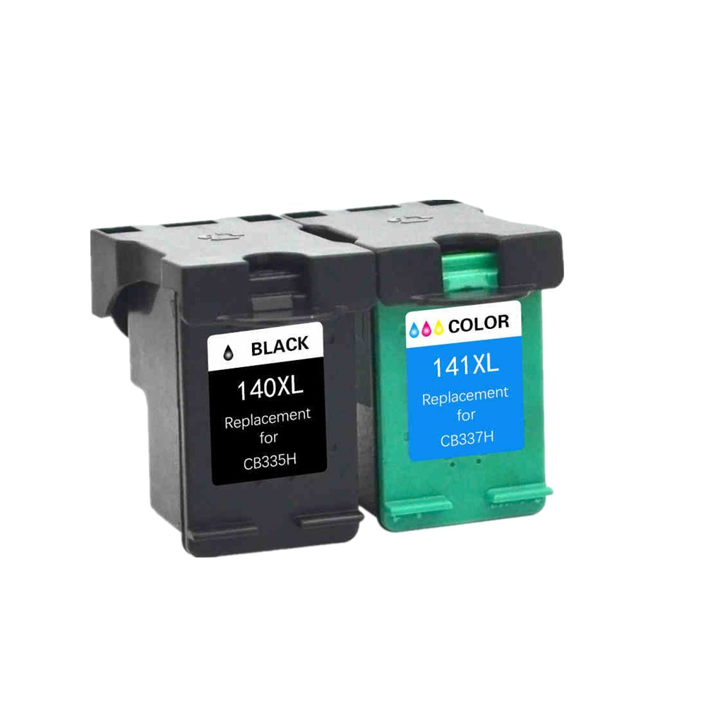2PK Compatible 140XL 141XL Ink Cartridge for <font><b>HP</b></font> <font><b>140</b></font> <font><b>141</b></font> for Deskjet C4583 C4283 C4483 C5283 D5363 image