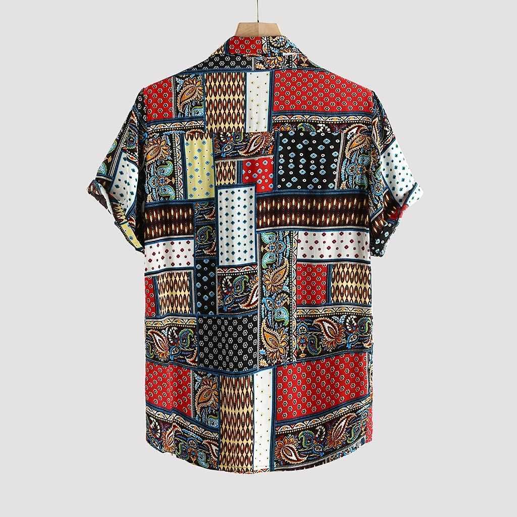 スタイリッシュな Hauts 注ぐオムメンズ純粋な綿カラフルな印刷襟半袖シャツ ropa デ hombre のカミーサ