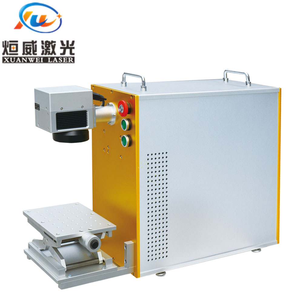 Metal Engraving Optical Fiber Laser Marking Machine 20W With Computer
