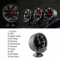 GReddi Sirius Trust 74mm Auto Gauge 7 Colors Turbo Boost Volt Water Temp Oil Temp Oil Press RPM Turbo EGT A/F Ratio Fuel Gauge