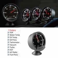 Jauge automatique GReddi Sirius Trust 74mm 7 couleurs Turbo Boost Volt température de l'eau température de l'huile presse à huile tr/min Turbo EGT rapport A/F jauge de carburant