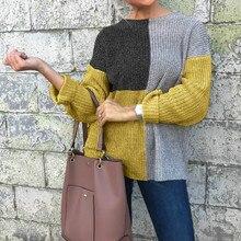 2019 Hot Sale Fashion Round Neck Patchworklong Sleeve Casual Tops T Shirt Women Women Shirts Long Sleeve Shirt Women T Shirt casual round neck long sleeve back slit women s t shirt