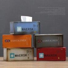 Американская Ретро промышленная ветровая креативная металлическая жестяная коробка для хранения салфеток, барная коробка для дома, гостиной, украшения