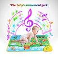 Estera Colorida Animal Farm Musical Aprendizaje Flash Alfombra de Juegos de Bebé Juguetes Alfombra música Manta Toque Juguete para el Bebé 71*49 CM