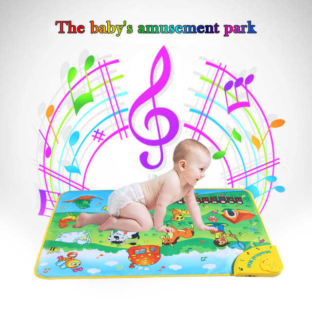 Musical Learning Mat Colorful Animal Farm Flash Play Mats Baby Toys Music Carpet Blanket Touch Toy for Baby Kids 71 * 49 CM