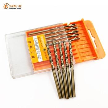 CHENG KE 100Pcs/Set twist drill bit 2.5mm 3.2mm 3.8mm 4.2mm 5mm 6mm professional cobalt steel alloys metal drill bits