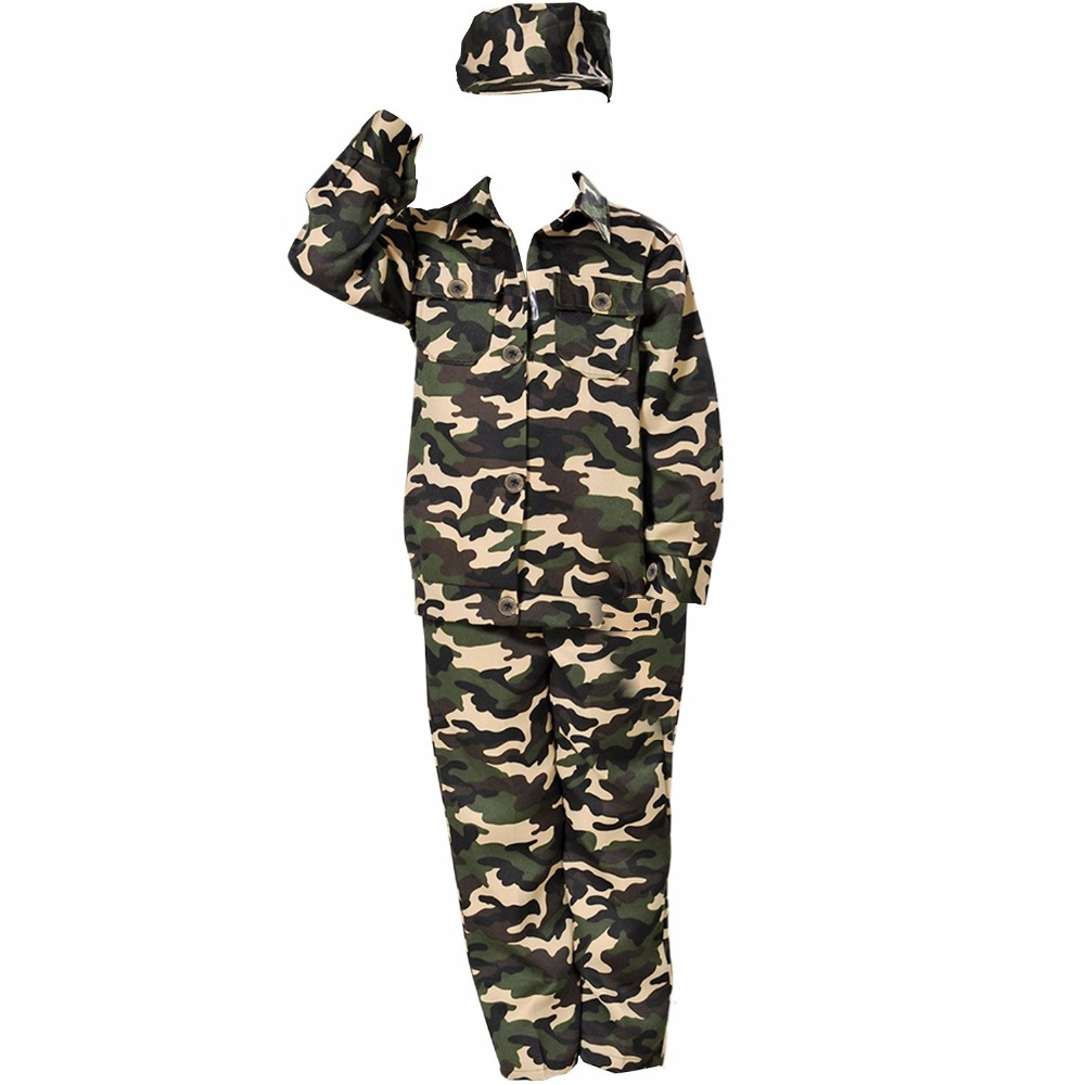 Kind Camouflage Soldat Kostüm Party Outfit Uniform - WLOG.ME