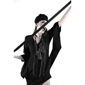 Image 3 - YD & YDBZ 新人デザイナーの高級本物の革のペンダントネックレス女性ネックレスゴシック革チェーンパーティーロングチョーカージュエリー