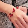 SL030 Vintage Cereza Pulseras Brazaletes Mujeres Perlas de Joyería de Moda Pulsera Del Encanto Envío gratis