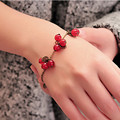 SL030 Vintage Cherry Bracelets Bangles Women Fashion Jewelry Beads Charm Bracelet Free shipping