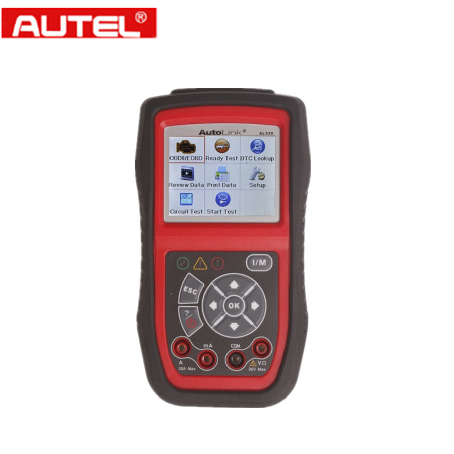 Original autel autolink al539 obdii can scanner multilingual menu autolink 539 electrical test tool internet update autel al539