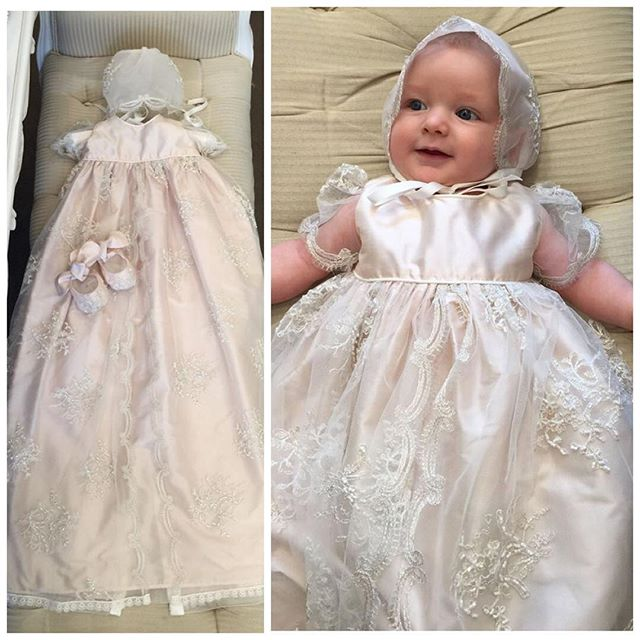 Popular Girls Silk Christening Gowns-Buy Cheap Girls Silk ...