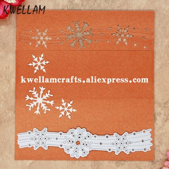 Snowflake Metal Die cięcia Umiera Dla MAJSTERKOWICZÓW Scrapbooking Album Tłoczenie Folder 8072618