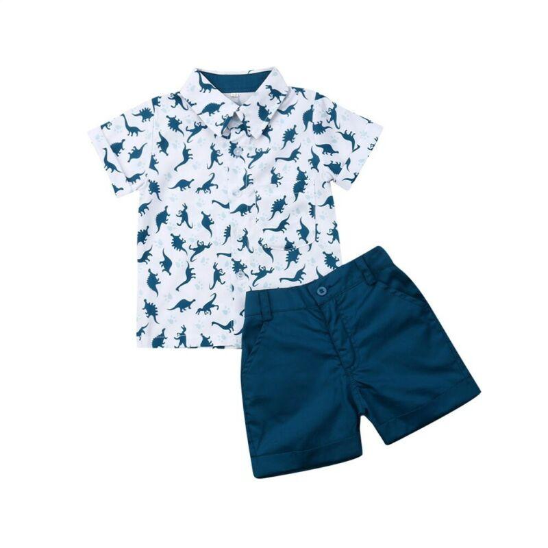 ><font><b>2pcs</b></font> <font><b>Toddler</b></font> <font><b>Kids</b></font> Boys Girls Summer Clothes T-shirt Tops+Shorts Pants Outfit Set