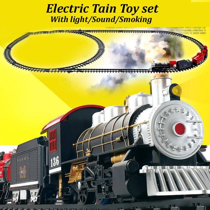 Classical Simulation Electric Trains Track Set Children S