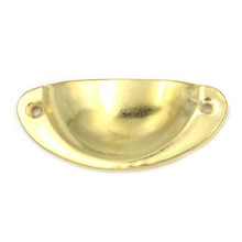 5pcs Gold Color Semicircle Shell Cabinet Door Cupboard Antique Furniture Pull Handles Drawer