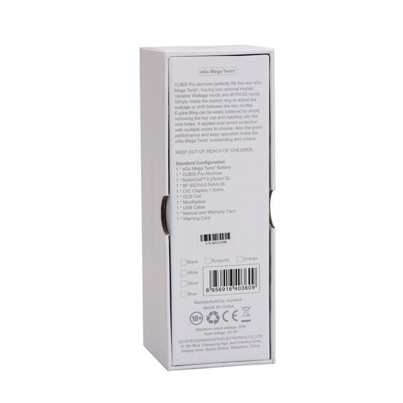 3d57f2288 ▻100% Original Joyetech eGo Mega Torção + Kit 4 ml Cubis Pro ...