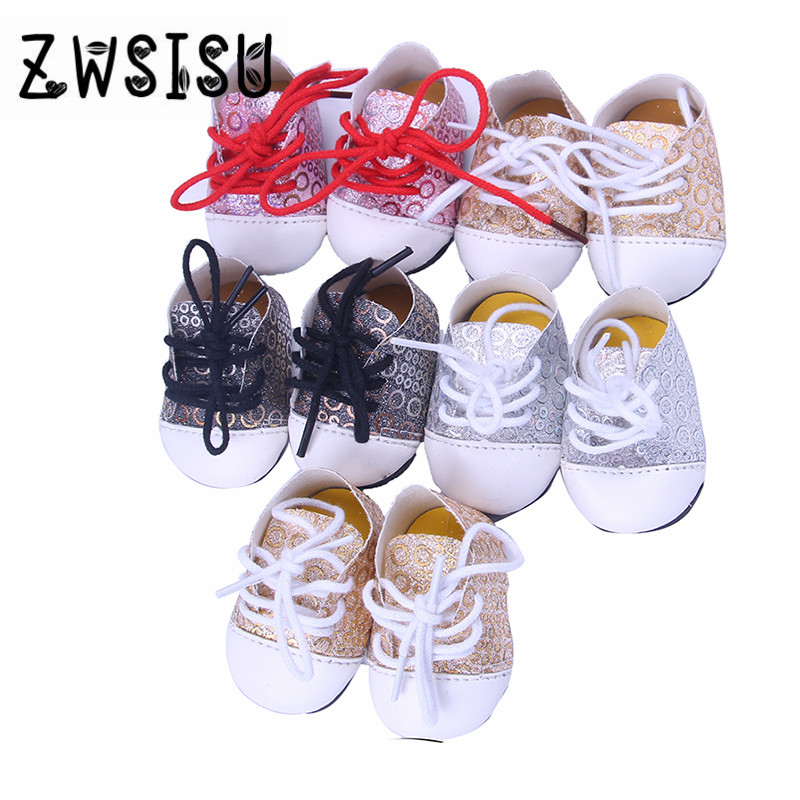 Super cute Doll shoes,All kinds of canvas shoes for 18 inch American girl doll for baby gift ,Doll accessories