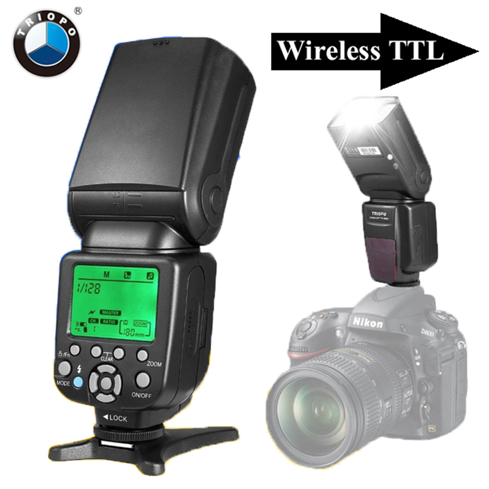 Triopo TR-586EX inalámbrico TTL Flash Speedlite para Nikon D750 D800 D3200 D7100 D3300 D5100 DSLR Cámara VS YONGNUO YN565EX YN-568EX