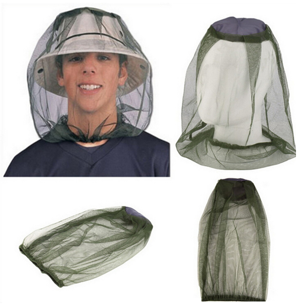 Beekeeping Hats Mesh Face Protection Insect Bug Anti Mosquito Bee Mesh Mask Cap Hat With Head Net Outdoor Fishing Head Net