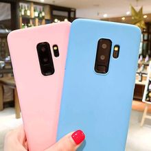 Candy Color Silicone Case For Samsung Galaxy S7 Edge S8 S9 Plus S6 Edge A7 2018 A3 A5 2017 S10 Lite Plus A6 A8 Plus 2018 Coque(China)