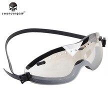 Emerson страйкбол тактический военный Открытый Мотоцикл ветрозащитный BOOGIE регулятор очки охотничьи очки черный прозрачный