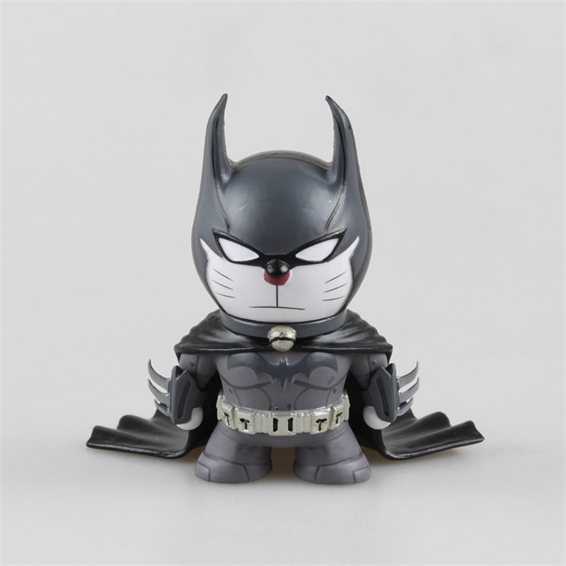 Doraemon Cos Batman PVC Action Figures Doll The Dark Knight Juguetes Super Hero Brinquedos Anime Figure Status Collection Toy cute doraemon figures toys pvc figure doll can use for phone
