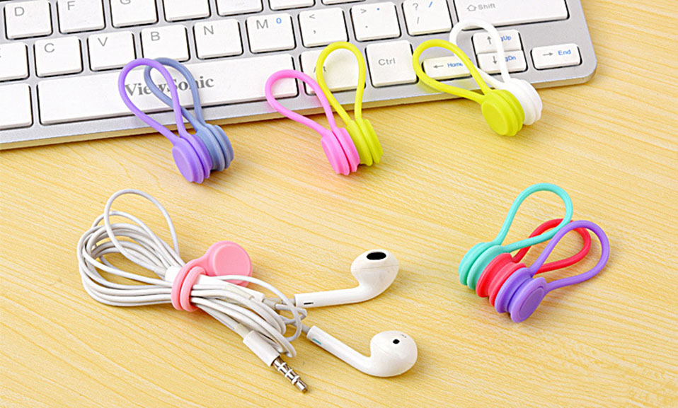 3PcsPack Earphone Cord Winder Cable Holder Organizer Clips Multi Function Durable Magnet Headphones Winder Cables Drop Shipping (2)