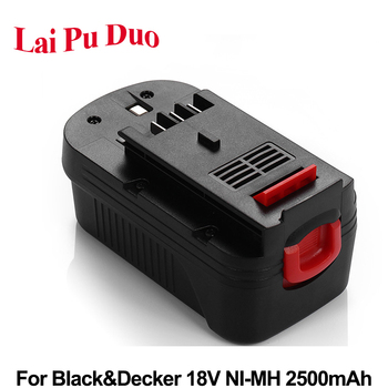Replacement Power Tool Battery 18V 2500mAh Ni-MH For Black&Decker: A18,HPB18, FS180BX,FS18BX, HPB18-OPE,244760-00