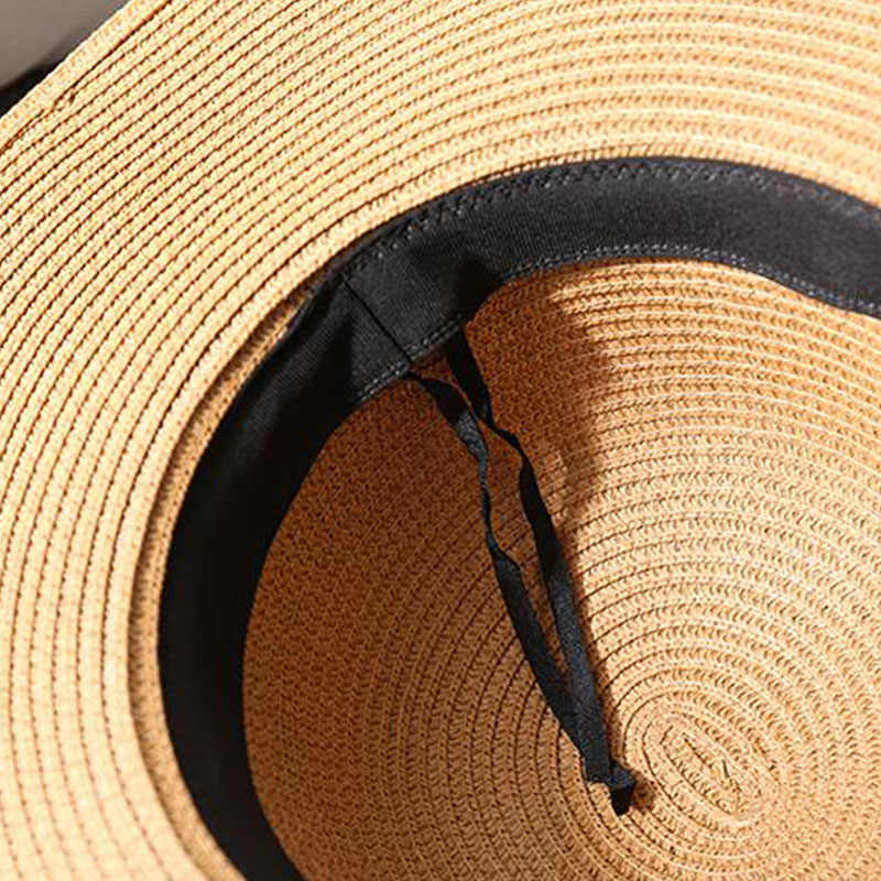 500b4d995 Summer Wide Big Brim floppy Straw Hats Sun Hats For Women UV Protection  Panama Beach Hats Ladies bow hat chapeau femme ete