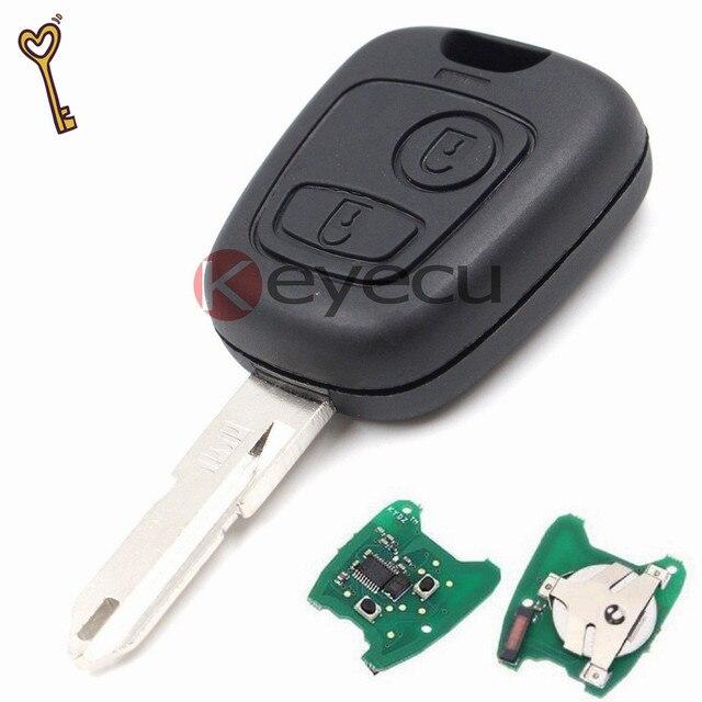 3 шт. Дистанционного Брелок 2 Кнопка 433 МГц + Uncut Бланк Лезвия 206 С Чипом ID46 Для Citroen