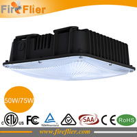 8pcs hot sale factory ceiling light led 100w 120w dimmable led canopy lamp 150w 200w gas station induction light 50w 80w DLC ETL
