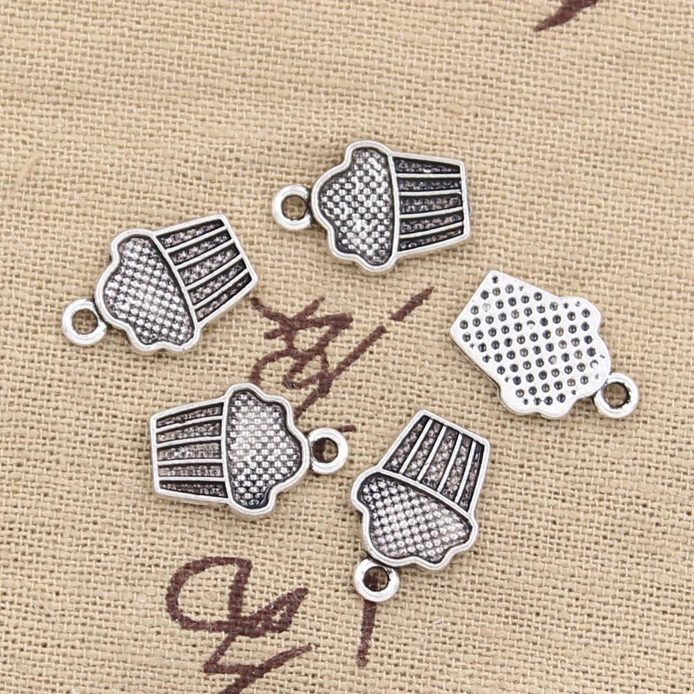 Free Ship 20Pcs Tibetan Silver Cake ice Cream Charms Pendant Fit Jewelry 20x14mm