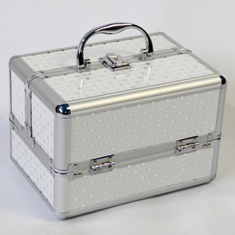 New Metal Make Up Storage Box Cute Cosmetic Makeup Organizer For Jewelry Box Women Organizer Travel Storage Boxes Bag Suitcase