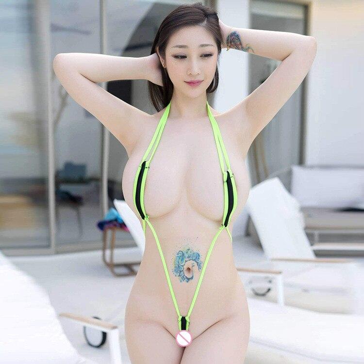 Micro Bikini Extreme Sexy Three-point Bikini Ropa Sexy Para El Sexo Belt Hanging Neck Bodysuit Sexy Lingerie Erotic Girl Tights