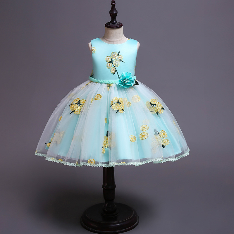girlssmall host birthday party show   dress   pageant   dresses     flower     girl     dresses   Ball Gown