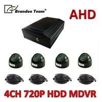 Низкая стоимость HDD AHD MDVR 4 канала аудио видео запись системы для грузовой автомобиль безопасности, бесплатная доставка